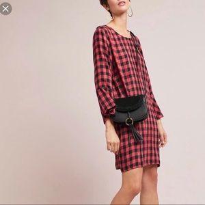 NWT Anthropologie Flutter Sleeve Dress Size L
